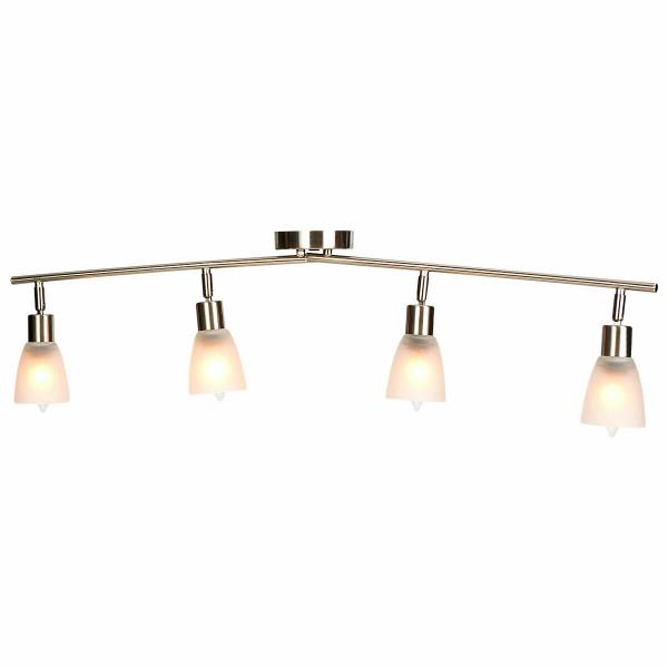 4-Light Track Light Rotatable Glass Shade Chandelier Lamp EP24406US