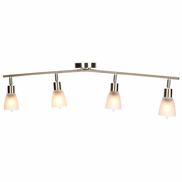 4-Light Track Light Rotatable Glass Shade Chandelier Lamp EP24406US