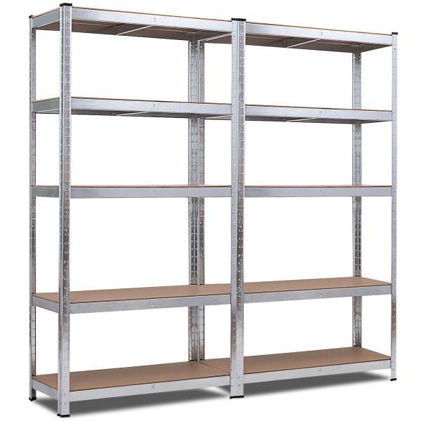 2 Pcs Storage Shelves Garage Shelving Units Tool Utility Shelves TL35158