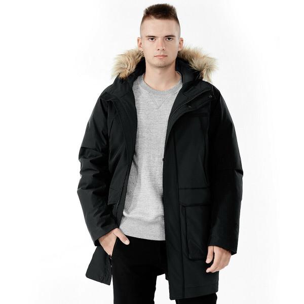 Men's Hooded Insulated Winter Puffer Parka Coat-Black-M GM11902004BK-M