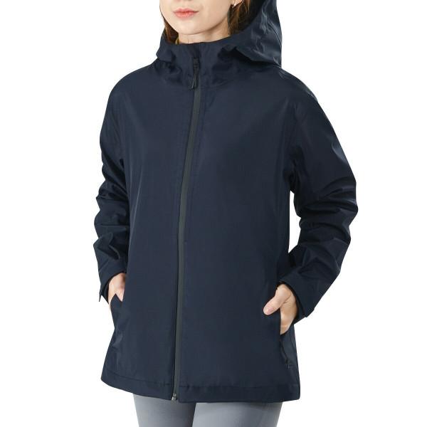 Women's Waterproof & Windproof Rain Jacket With Velcro Cuff-Navy-XXL GM21901008NY-XXL
