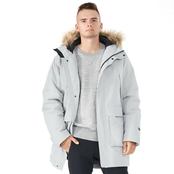 Men's Hooded Insulated Winter Puffer Parka Coat-Gray-M GM11902004GR-M
