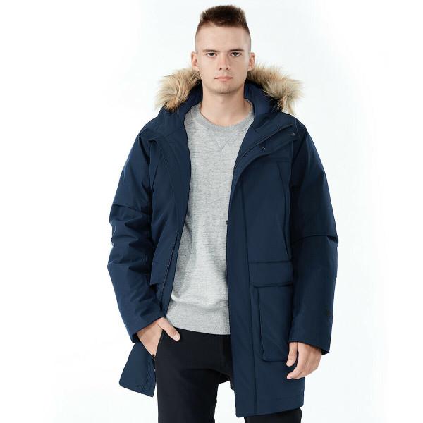 Men's Hooded Insulated Winter Puffer Parka Coat-Navy-XXL GM11902004NY-XXL