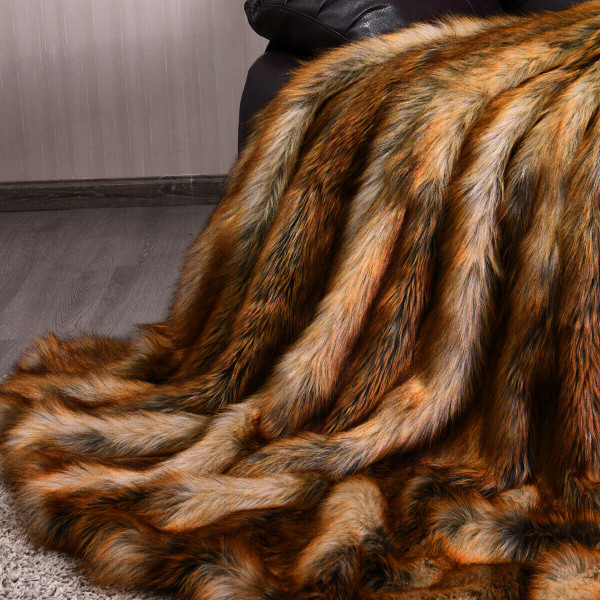 Soft Warm Fluffy For Bed Luxury Plush Faux Fur Blanket -L HT1067