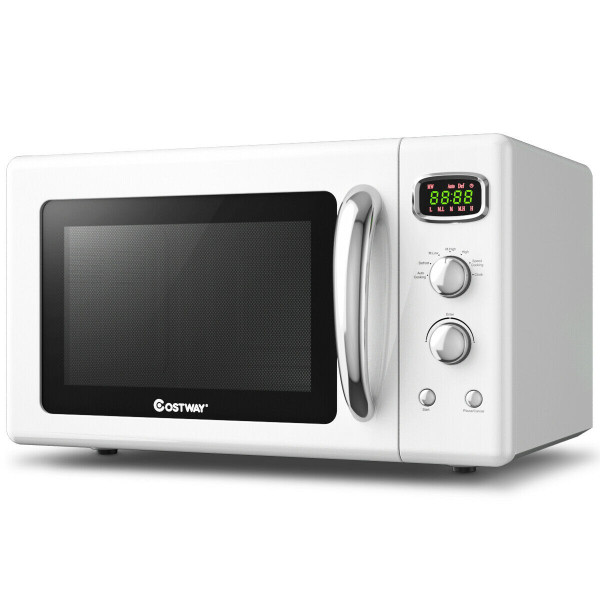 0.9 Cu.Ft Retro Countertop Compact Microwave Oven-White EP24453WH