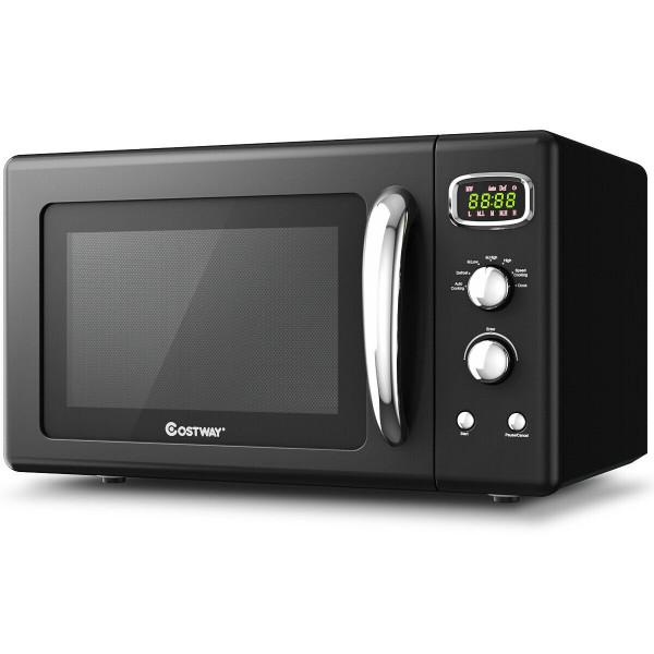 0.9 Cu.Ft Retro Countertop Compact Microwave Oven-Black EP24453BK