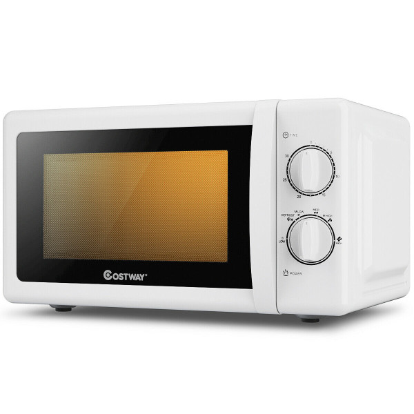 0.7 Cu. Ft Retro Countertop Compact Microwave Oven-White EP24454WH
