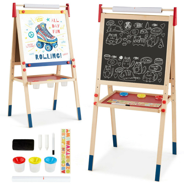 All-In-One Wooden Height Adjustable Kid'S Art Easel TY327109