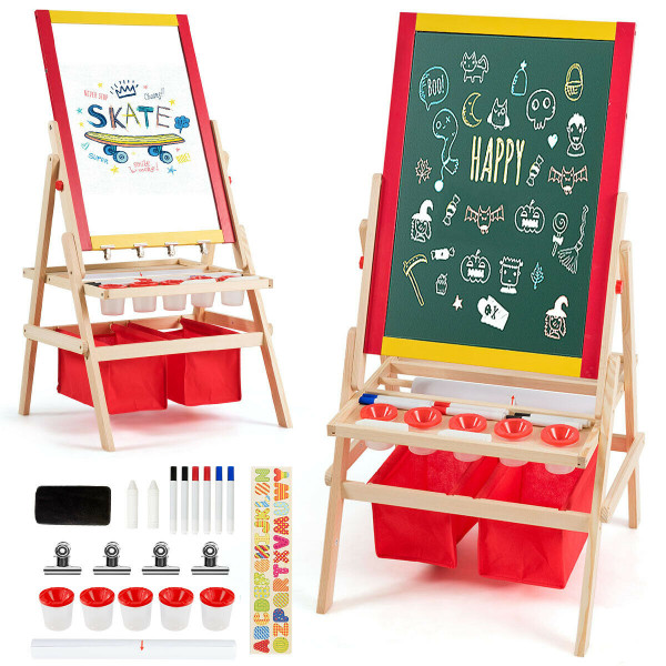 Flip-Over Double-Sided Kids Art Easel TY327110