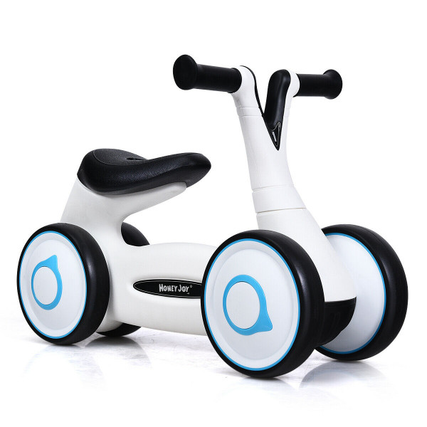 Baby Balance Bike Bicycle Toddler Toys Rides No-Pedal-White TY327156WH