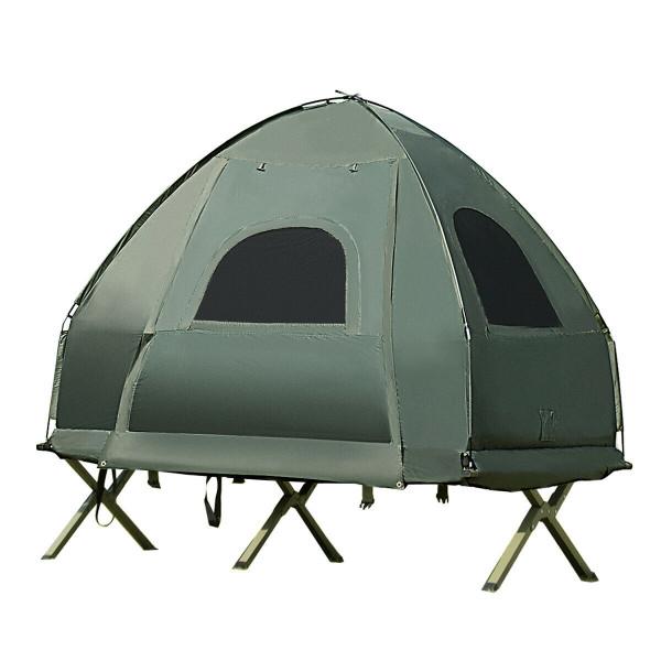 1-Person Compact Portable Pop-Up Tent Air Mattress & Sleeping Bag OP3929