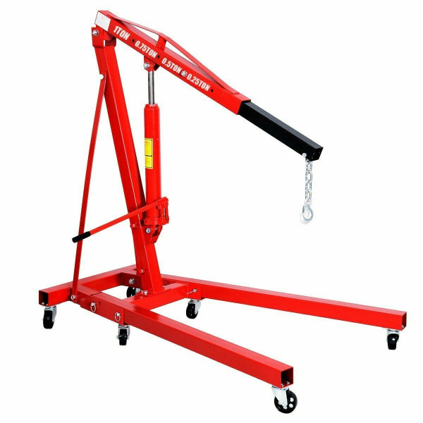 1 Ton Folding Hydraulic Engine Crane Hoist AT4075+