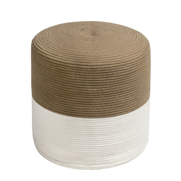 Pouf Ottoman Round For Sitting Braided Pouf With Jute Cover HW63700