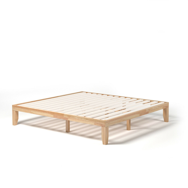 14 Inch King Size Wood Platform Bed Frame-Natural HW63261NA
