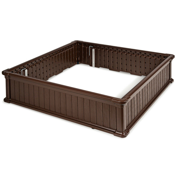 "48.5"" Raised Garden Bed Planter For Flower Vegetables Patio-Brown OP70321BN"
