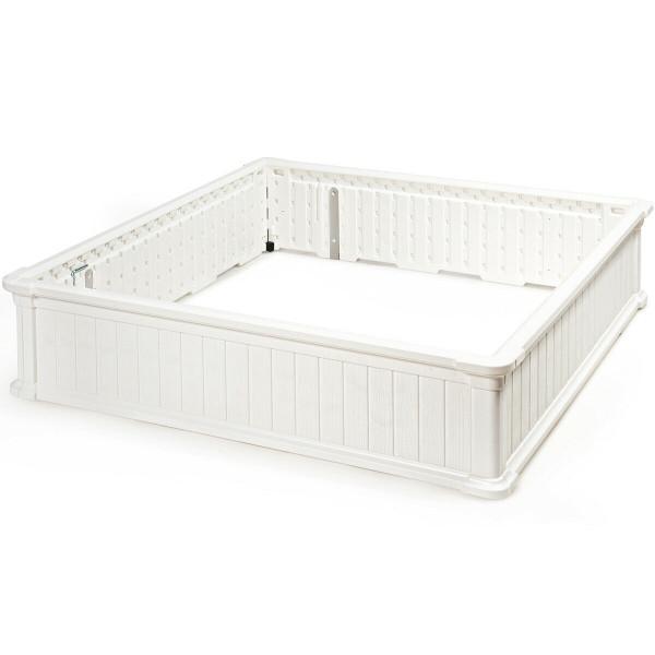 "48.5"" Raised Garden Bed Planter For Flower Vegetables Patio-White OP70321WH"