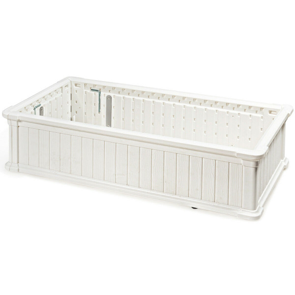 "48"" X 24"" Raised Garden Bed Rectangle Plant Box-White OP70322WH"