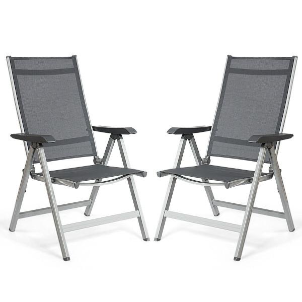 2 Pcs Adjustable Outdoor Portable Folding Chair OP70254-2