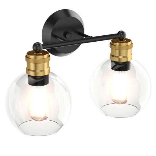 Modern 2-Light Bubbled Glass Vanity Light EP24542US