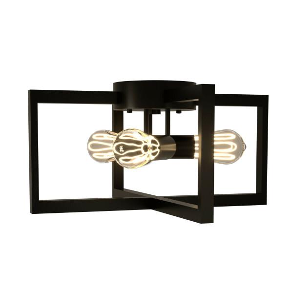 Flush Mount Geometric Metal 3-Lights Ceiling Lamp EP24540US