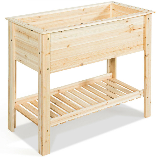 Raised Garden Bed With Storage Shelf GT3474