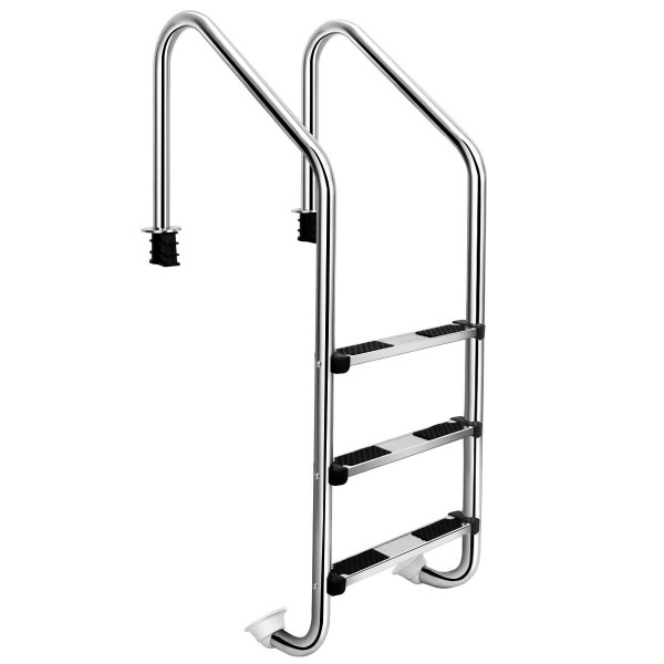 3-Step Swimming Pool Ladder W/ Anti-Slip Steps BA7563