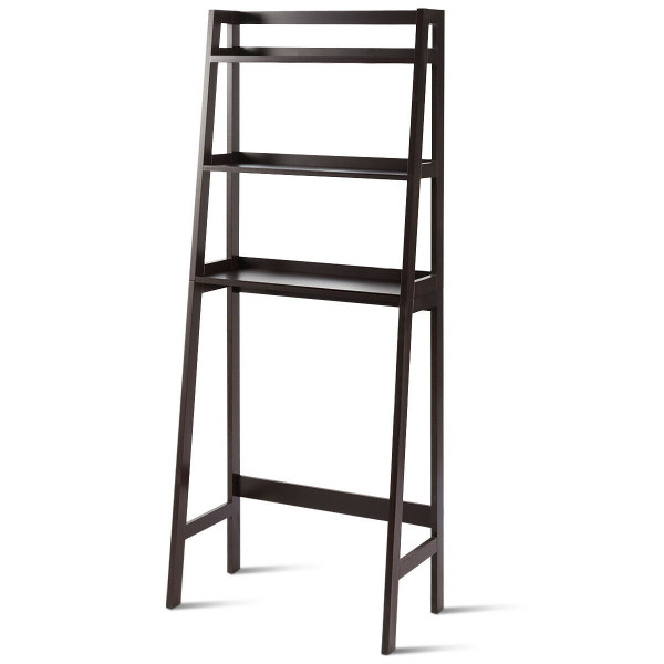 3-Shelf Over-The-Toilet Storage Organizer Rack-Brown HW63999BN