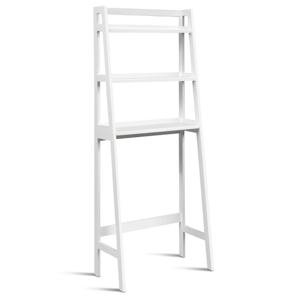 3-Shelf Over-The-Toilet Storage Organizer Rack-White HW63999WH