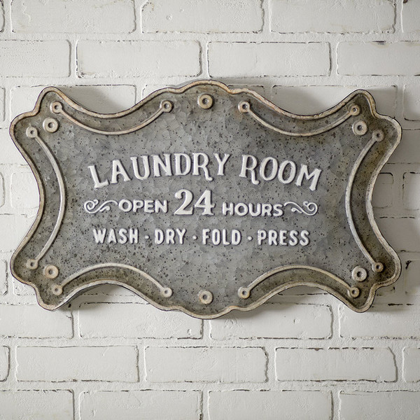 """CTW Home """"Laundry Room"""" Metal Sign 530211"""