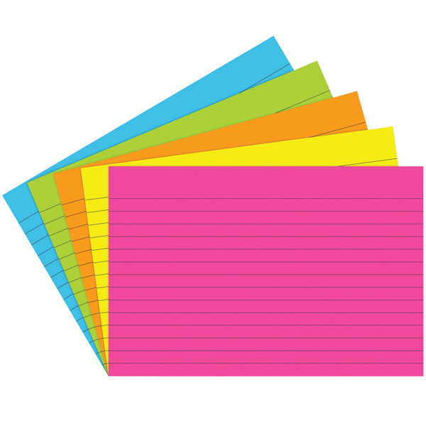 Index Cards 4X6 Lined 75 Ct Brite Assorted TOP363