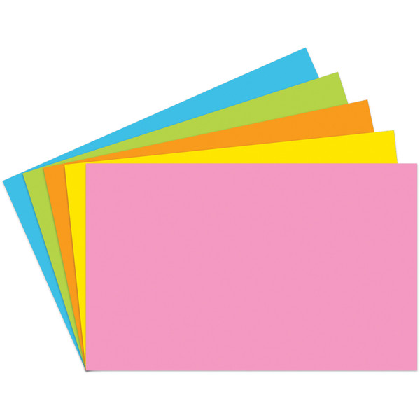 Index Cards 5X8 Blank 100 Ct Brite Assorted TOP364