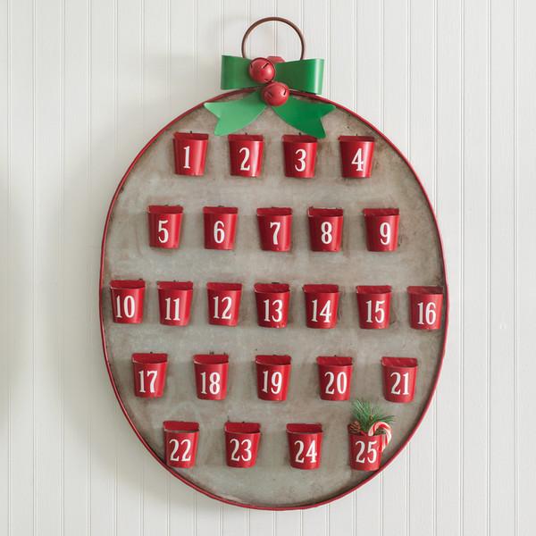 CTW Home 25 Days Of Christmas Metal Advent Calendar 770241