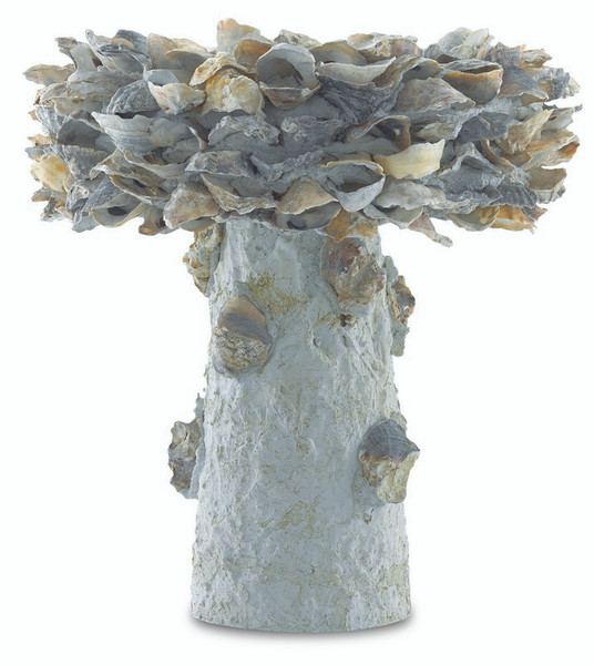 Currey Oyster Shell Small Bird Bath Natural 1200-0052