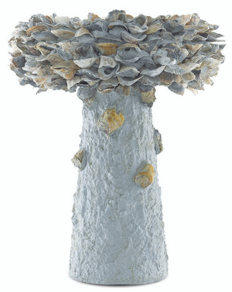 Currey Oyster Shell Medium Bird Bath Natural 1200-0053