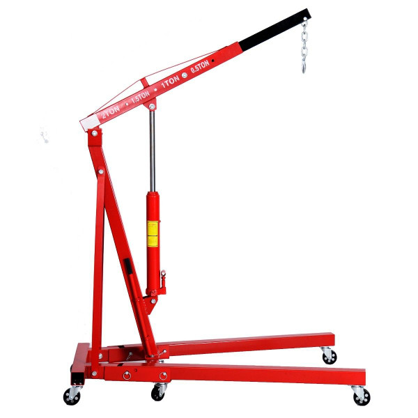 2 Ton Red Color 4000 Lb Engine Motor Hoist Cherry Picker Shop Crane Lift New AT3638RE+