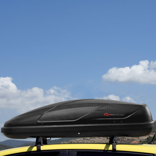 14 Cubic Feet Cargo Box Dual-Sided Opening Car Roof-Black AT5221-18BK