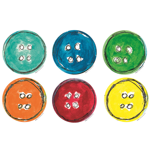 (3 Pk) Pete The Cat Groovy Buttons Accents 36 Per Pack EP-3236BN