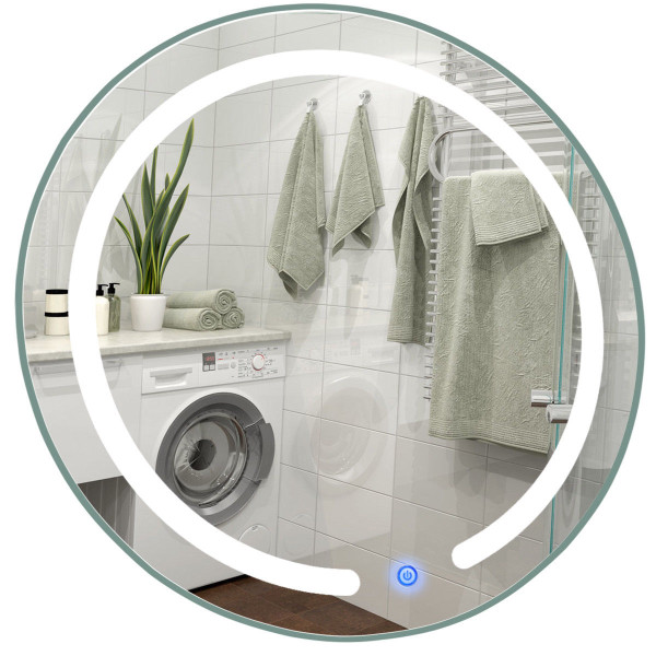 "20"" Led Touch Button Wall Mount Bathroom Round Mirror BA7251"