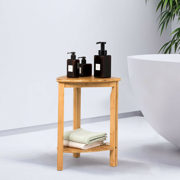Bamboo Bathroom Corner Shelf Cost Freestanding Shower Caddy BA7477