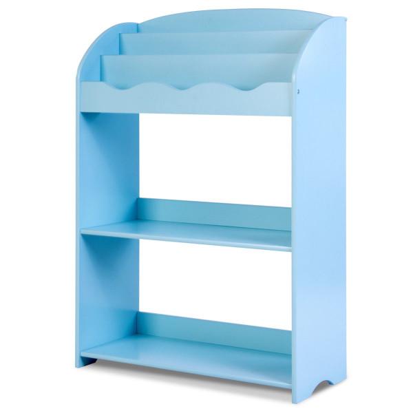 3-Tier Kids Bookshelf Magazine Storage Bookcase -Blue BB4828BL