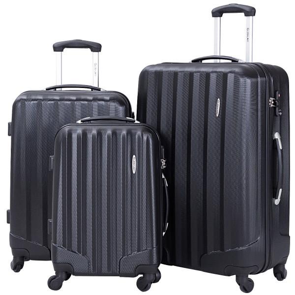 3 Pcs Luggage Travel Set Bag With Lock-Black BG50209BK