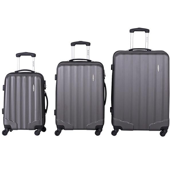 3 Pcs Luggage Travel Set Bag With Lock-Gray BG50209GR
