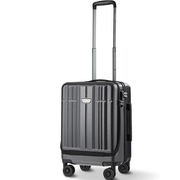 Front Pocket Luggage Business Trolley Suitcase Withtsa Locks-Black BG50380BK