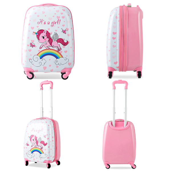 """12"""" Backpack And 16"""" Rolling Suitcase Kids Luggage Set BG50408"""