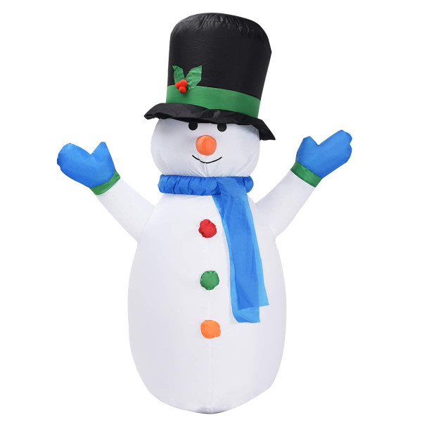 4 Ft Airblown Inflatable Christmas Snowman Decoration CM19939 - (Pack Of 2)