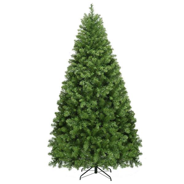 Pre-Lit Artificial Pvc Christmas Tree W/ Led Lights & Stand-7' CM20715