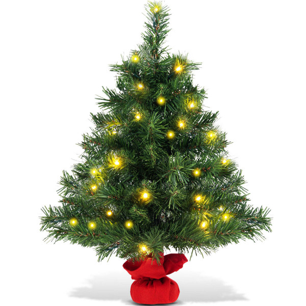 "24"" Fir Artifical Christmas Tree With Led Lights CM21216 - (Pack Of 2)"