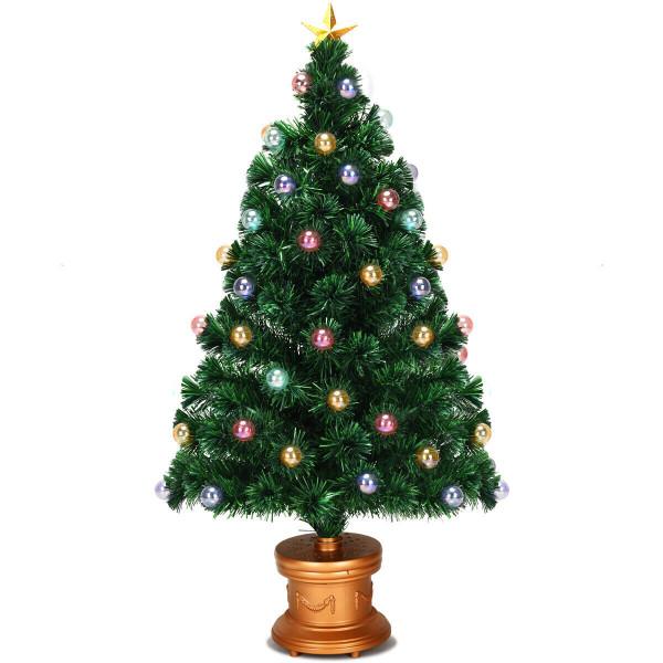 Pre-Lit Fiber Optical Firework Christmas Tree-4' CM21219