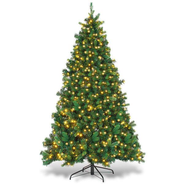 6.5 Ft Pe & Pvc Pre-Lit Artificial Christmas Tree CM21225