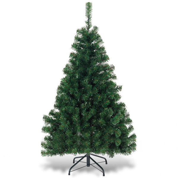4.5Ft Pvc Pre-Lit Artificial Hinged Christmas Tree CM21226